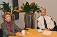 Burgemeester Willy Doorn en politiechef Heinie Cornelissen